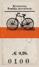 Fahrradkarte Kleinbahn Prettin - Annaburg
